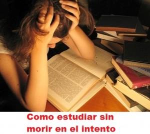 Como estudiar sin morir en el intento