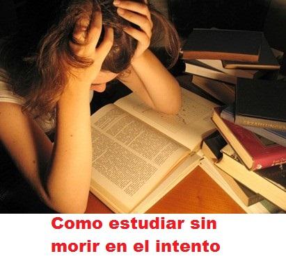 Estudiar sin morir en el intento